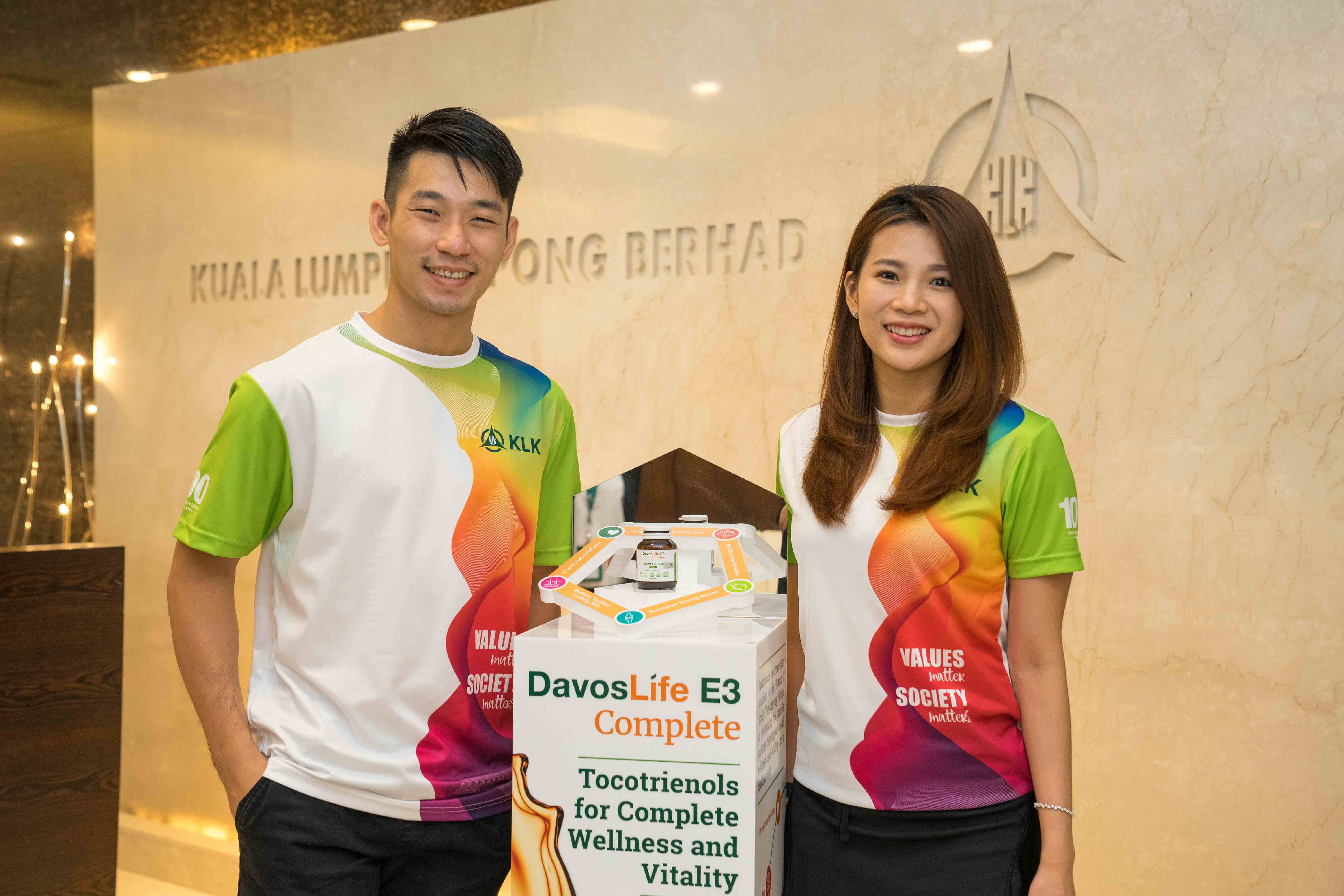Peng Soon and Liu Ying are the first Brand ambassadors for KLK's DavosLife E3 Complete