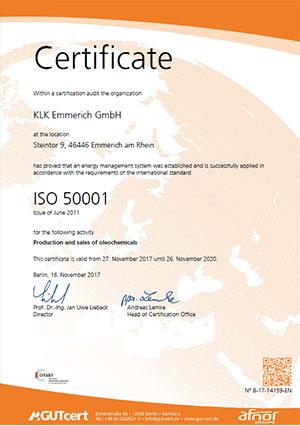 GUTcert ISO 50001