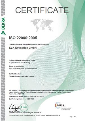 Dekra ISO 22000:2005