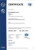DQS ISO 9001:2015 ISO 14001:2015